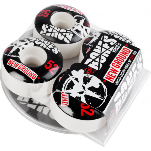 BONES WHEELS STF New Ground 52mm 4pk w/free DVD