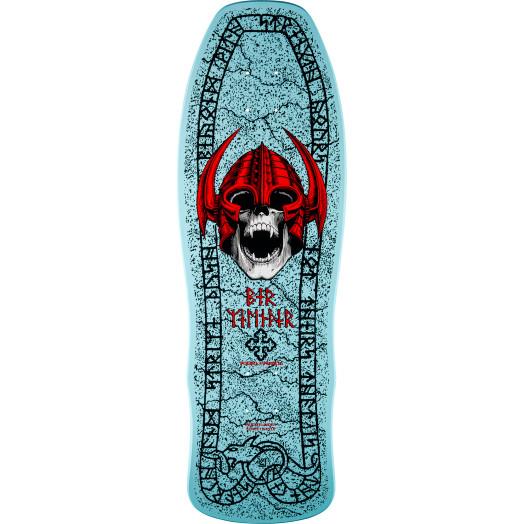 Powell Peralta Welinder Nordic Skull Skateboard Deck Light Blue - 9.625 x 29.75