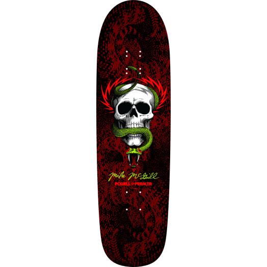 Powell Peralta McGill Snake Skin Fun Shape 2 Skateboard Deck Black/Red - 8.97 x 32.38