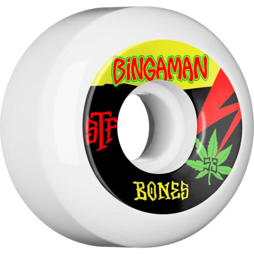 BONES WHEELS STF Pro Bingaman Attitude Skateboard Wheels V5 53mm 103A 4pk
