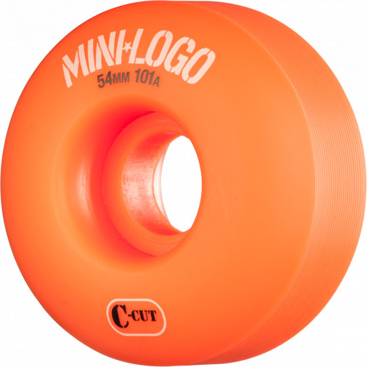 Mini Logo Skateboard Wheel C-cut 54mm 101A Orange 4pk