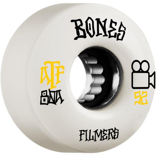 BONES WHEELS ATF Skateboard Wheels Filmers 52mm 80A 4pk