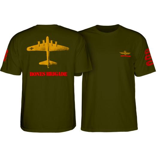 Bones Brigade Bomber T-shirt Military Green