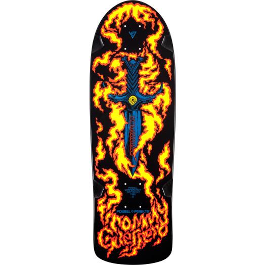 Bones Brigade® Tommy Guerrero Flaming Dagger Reissue Skateboard Deck Black - 9.6 x 29.18