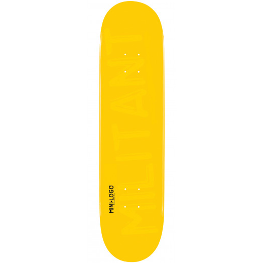 Mini Logo Militant Skateboard Deck 170 Yellow - 8.25 x 32.5