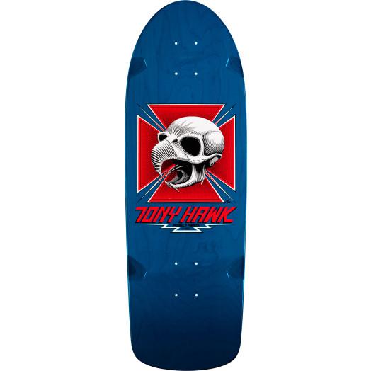Bones Brigade® Tony Hawk Skull Reissue Deck Blue - 10 x 30.05