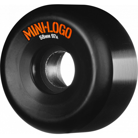 Mini Logo A-cut Wheel 58mm 97a Black 4pk