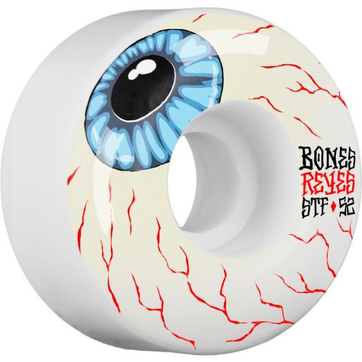 BONES WHEELS STF Pro Reyes Eyeball Skateboard Wheel V4 52mm 103A 4pk