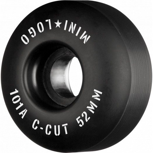 "Mini Logo Skateboard Wheels C-cut ""2"" 52mm 101A Black 4pk"