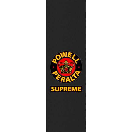 Powell Peralta Grip Tape Sheet 10.5 x 33 Supreme (Black)