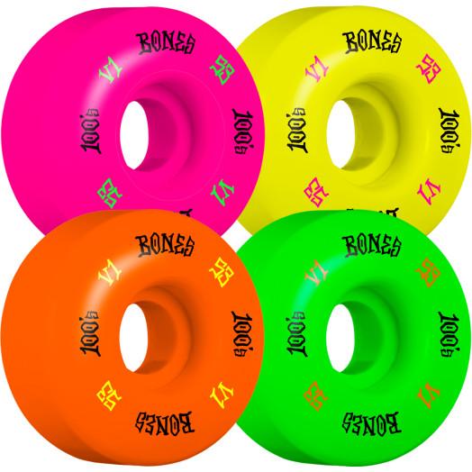BONES WHEELS 100's Party Pack #4 OG Formula Skateboard Wheel 53mm 100A 4pk Multi