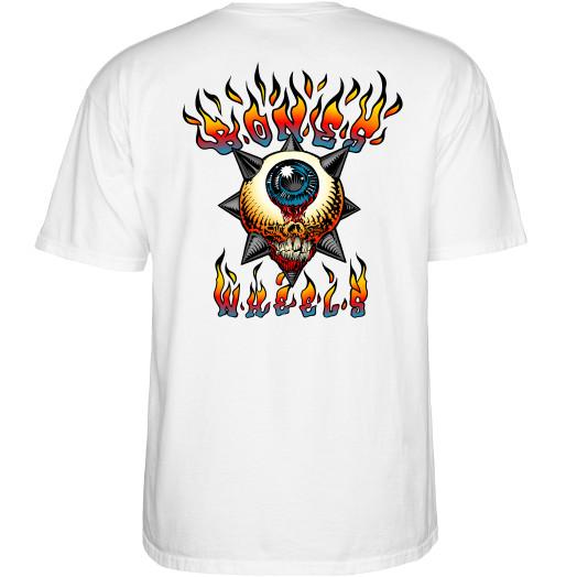 BONES WHEELS Iron Sun T-Shirt White