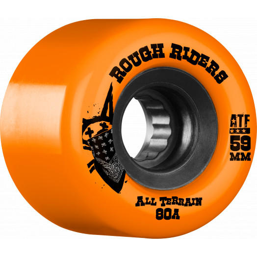BONES WHEELS Rough Riders Skateboard Wheels 59mm Orange 4pk
