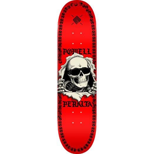 Powell Peralta Ripper Chainz Skateboard Deck Red - 8 x 31.45