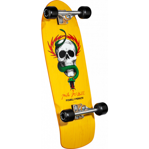 Powell Peralta McGill Skull and Snake Complete Assembly Yellow - 10 x 31.125