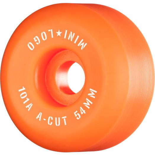 "Mini Logo Skateboard Wheels A-cut ""2"" 54mm 101A Orange 4pk"