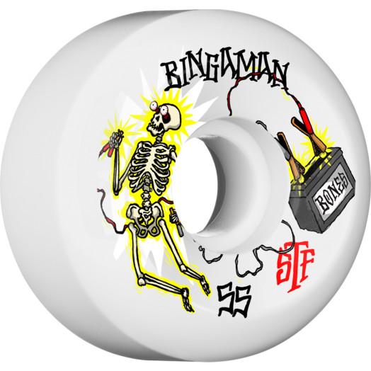 BONES WHEELS STF Pro Bingaman Zapped Skateboard Wheels Sidecuts 55mm 4pk