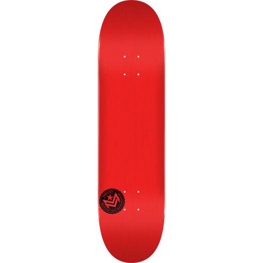 "MINI LOGO CHEVRON STAMP ""12"" SKATEBOARD DECK 112 RED - 7.75 X 31.75"
