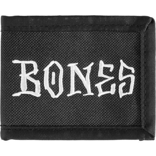 BONES WHEELS Lil Homie Wallet Black Canvas