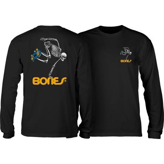 Powell Peralta Skateboarding Skeleton YOUTH L/S - Black