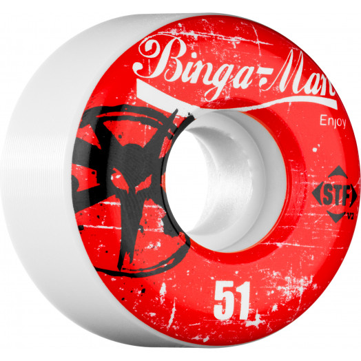 BONES WHEELS STF Pro Bingaman Enjoy 51mm (4 pack)