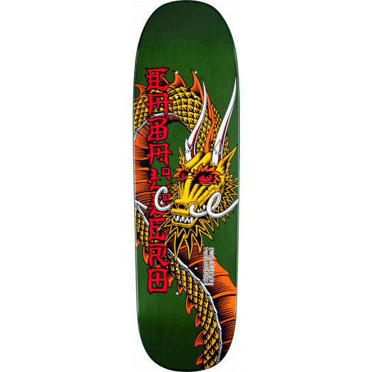 Powell Peralta Pro Caballero Ban This Dragon Skateboard Deck Green - 9.265 x 32
