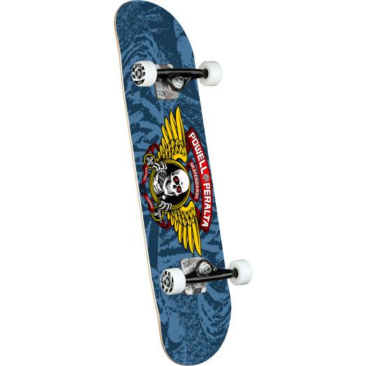 Powell Peralta Winged Ripper Blue Birch Complete Skateboard - 8 x 31.45