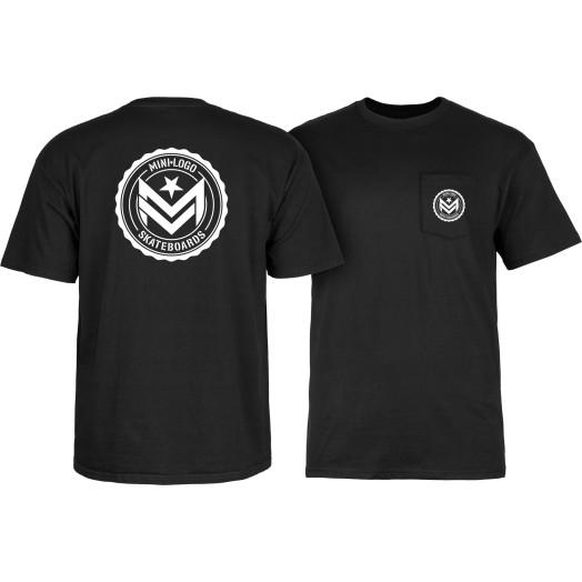 Mini Logo Chevron Circle T-shirt Black