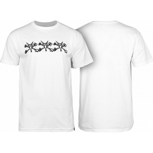 BONES WHEELS Tres Vatos T-shirt White