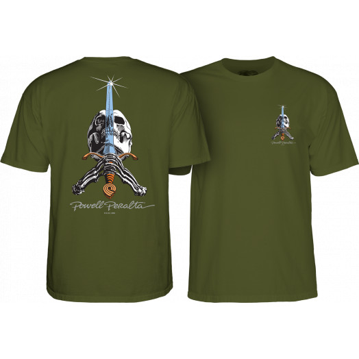 Powell Peralta Skull & Sword T-shirt Military Green