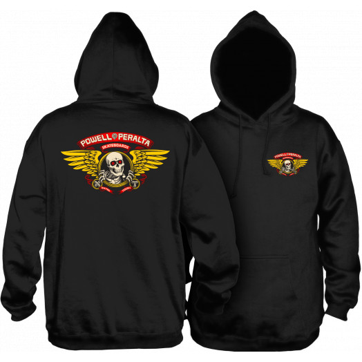 Powell Peralta Winged Ripper Hooded Sweatshirt Black