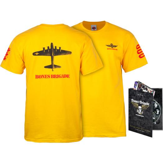 BONES BRIGADE: An Autobiography Blu-Ray/DVD + Gold Bomber T-Shirt Combo