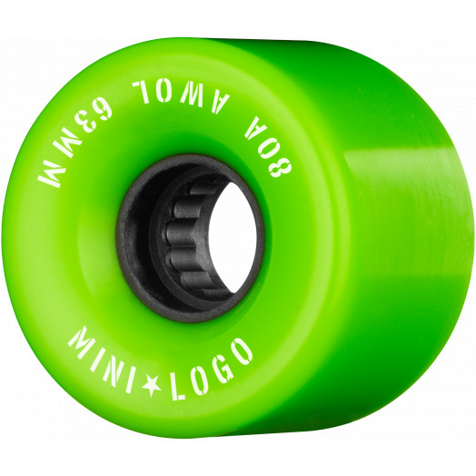 Mini Logo AWOL Skateboard Wheels 63mm 80A Green 4pk