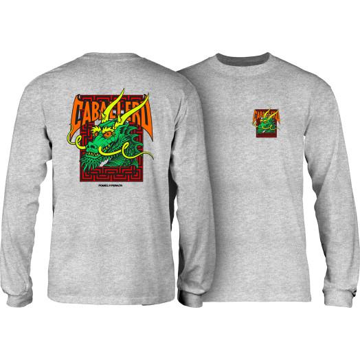 Powell Peralta Caballero Sreet Dragon L/S Shirt Athletic Heather Grey