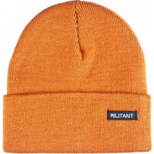 Mini Logo Beanie Militant Army Orange