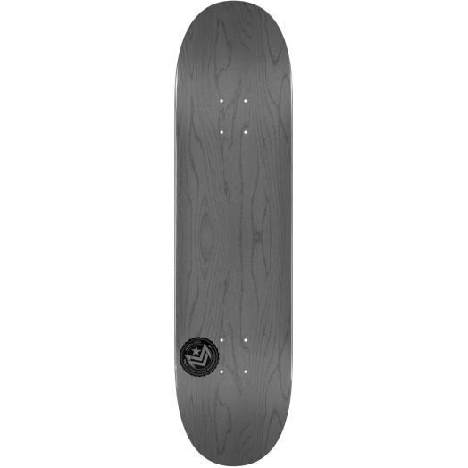 "Mini Logo ""12"" Chevron Skateboard Deck 191 K16 Gray - 7.5 x 28.65"
