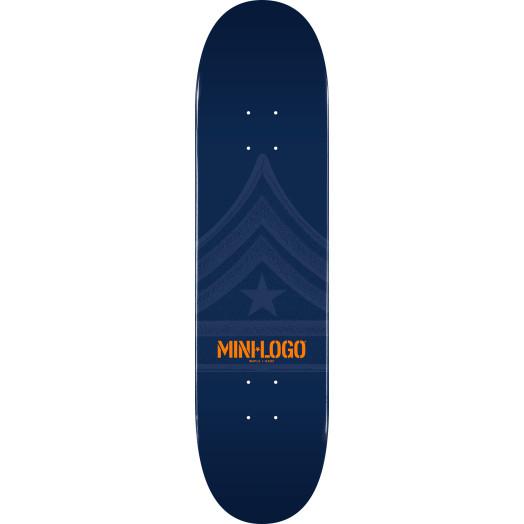 Mini Logo Quartermaster Skateboard Deck 191 Navy - 7.5 x 28.65