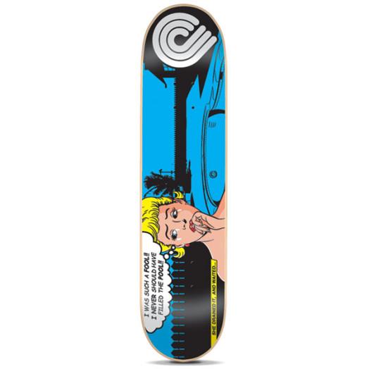 Powell Pop Art Skateboard Deck Blue - 8 x 32.25
