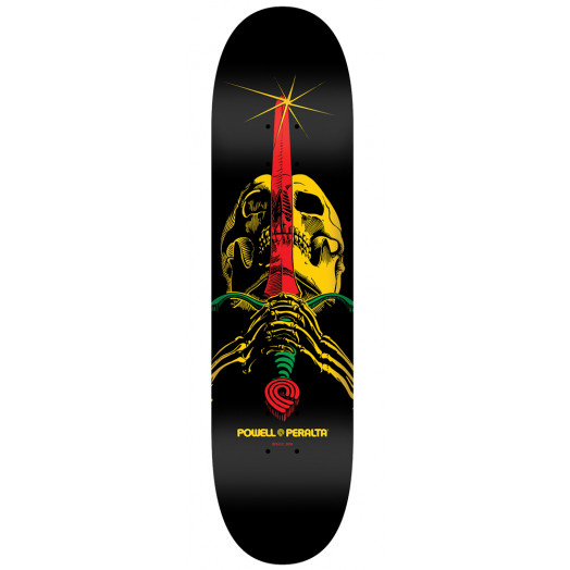 Powell Peralta LIGAMENT BL Skull & Sword 5 Skateboard Deck - 7.75 x 31.75