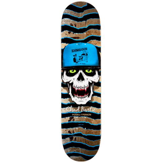 Powell Peralta Pro Chad Bartie Skull Skateboard Deck - 8 x 32.125