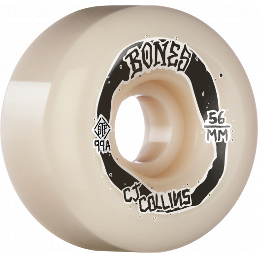 BONES WHEELS PRO STF Skateboard Wheels Collins Swirkle 56mm V6 Wide-cut 99A 4pk