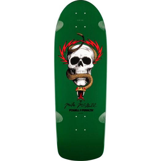 Powell Peralta McGill Skull and Snake Skateboard Deck Green - 10 x 30.125