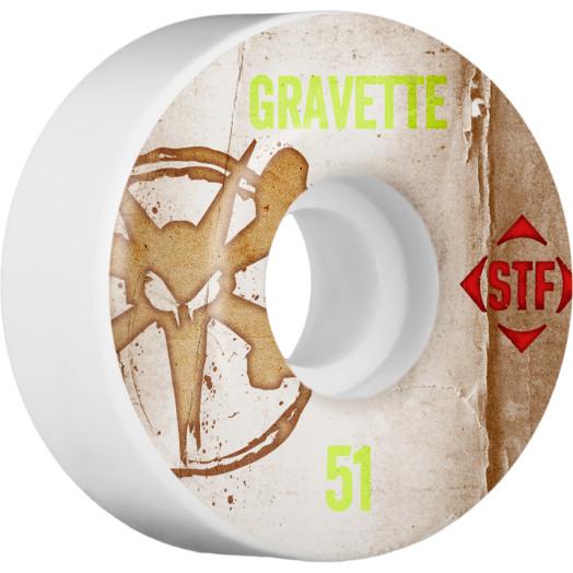 BONES WHEELS STF Pro Gravette Team Vintage Wheel 51mm 4pk