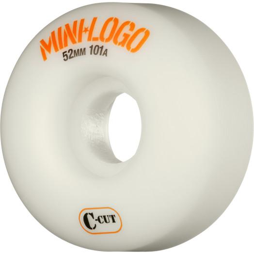 Mini Logo Skateboard Wheels C-cut 52mm 101A White 4pk