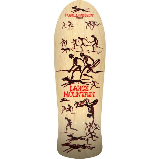 Bones Brigade® Lance Mountain 11th Series Reissue Skateboard Deck Natural - 10 x 30.75