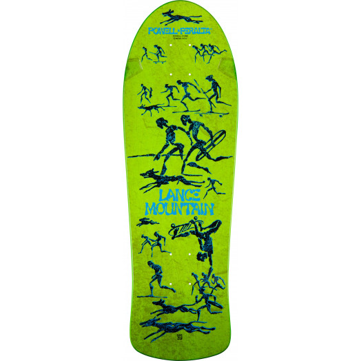 Bones Brigade® Lance Mountain Future Primitive Reissue Deck Green - 10 x 30.75
