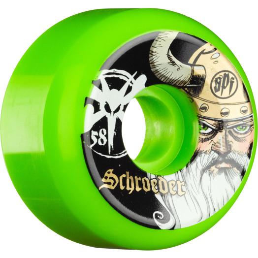 BONES WHEELS SPF Pro Schroeder Odin Green 58mm 4pk