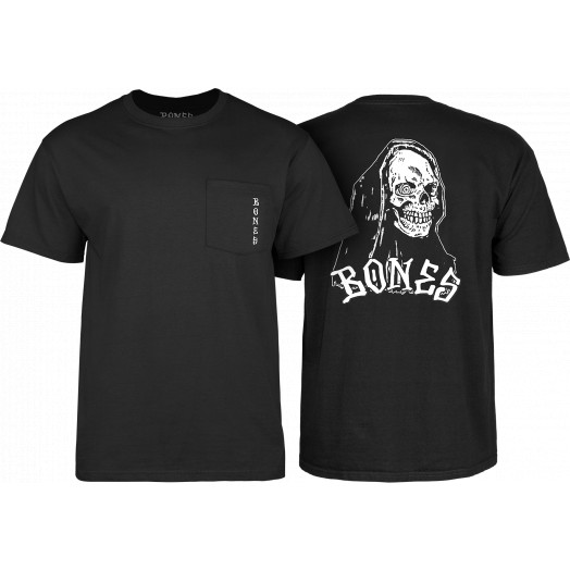BONES WHEELS Terror Nacht Creeper T-shirt Black