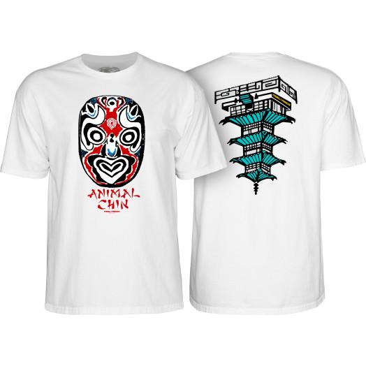 Powell Peralta Chin Mask White T-shirt