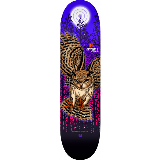 Powell Peralta Pro Ben Hatchell Owl Skateboard Deck - Shape 248 - 8.25 x 31.95